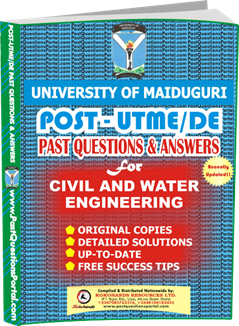 UNIMAID Post UTME Past Question for Civil and Water Engineering