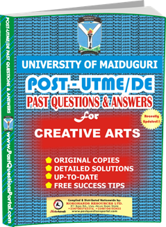 UNIMAID Post UTME Past Question for Creative Arts