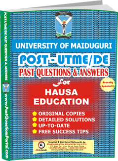 UNIMAID Post UTME Past Question for Education Hausa