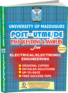 UNIMAID Post UTME Past Question for Electrical Electronic Engineering