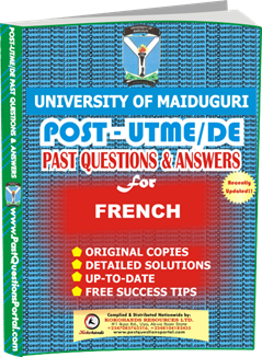 UNIMAID Post UTME Past Question for FRENCH