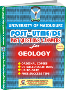 UNIMAID Post UTME Past Question for Geology