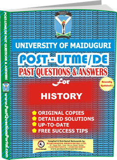 UNIMAID Post UTME Past Question for HISTORY
