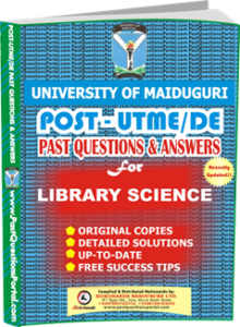 UNIMAID Post UTME Past Question for Library Science