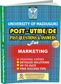 UNIMAID Post UTME Past Question for MARKETING