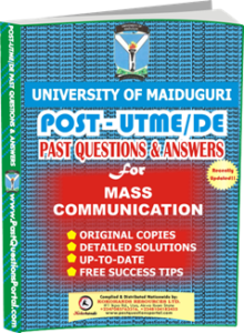 UNIMAID Post UTME Past Question for Mass_Communication