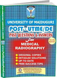 UNIMAID Post UTME Past Question for Medical Radiography