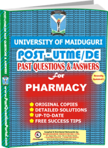 UNIMAID Post UTME Past Question for Pharmacy