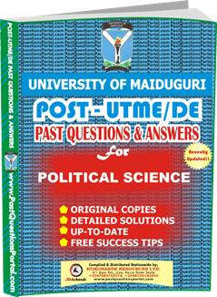 UNIMAID Post UTME Past Question for Political Science