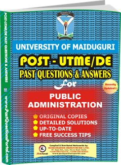 UNIMAID Post UTME Past Question for Public Administration