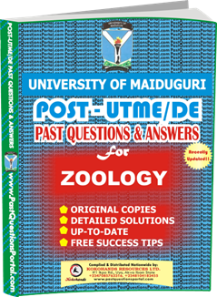 UNIMAID Post UTME Past Question for ZOOLOGY