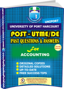 UNIPORT Post UTME Past Question for ACCOUNTING
