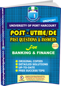 UNIPORT Post UTME Past Question for BANKING FINANCE