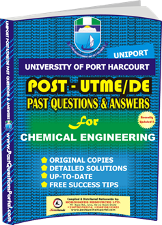 UNIPORT Post UTME Past Question for CHEMICAL ENGINEERING