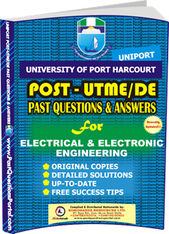 UNIPORT Post UTME Past Question for ELECTRICAL ELECTRONIC ENGINEERING