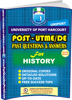 UNIPORT Post UTME Past Question for HISTORY