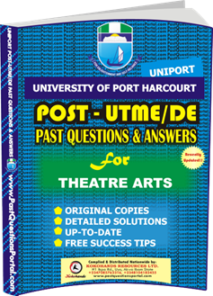 UNIPORT Post UTME Past Question for Theater Arts