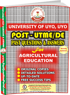 UNIUYO Post UTME Past Question for Agricultural Education
