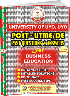 UNIUYO Post UTME Past Question for Business Education