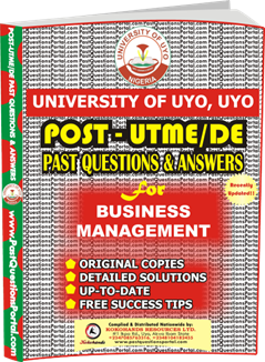 UNIUYO Post UTME Past Question for Business Management