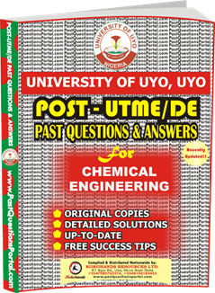 UNIUYO Post UTME Past Question for Chemical Engineering