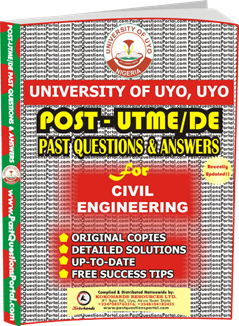 UNIUYO Post UTME Past Question for Civil Engineering