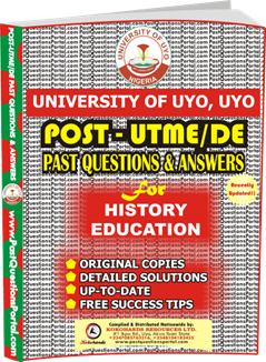 UNIUYO Post UTME Past Question for Education History