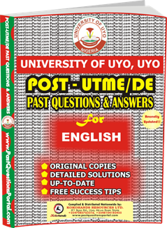 UNIUYO Post UTME Past Question for English