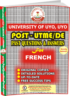 UNIUYO Post UTME Past Question for French