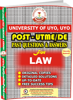 UNIUYO Post UTME Past Question for LAW