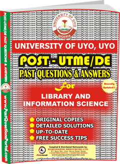 UNIUYO Post UTME Past Question for Library and Information Science