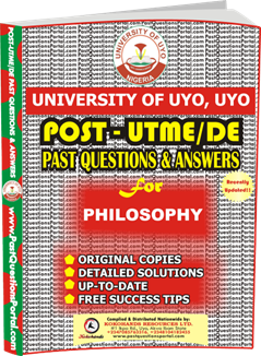 UNIUYO Post UTME Past Question for Philosophy