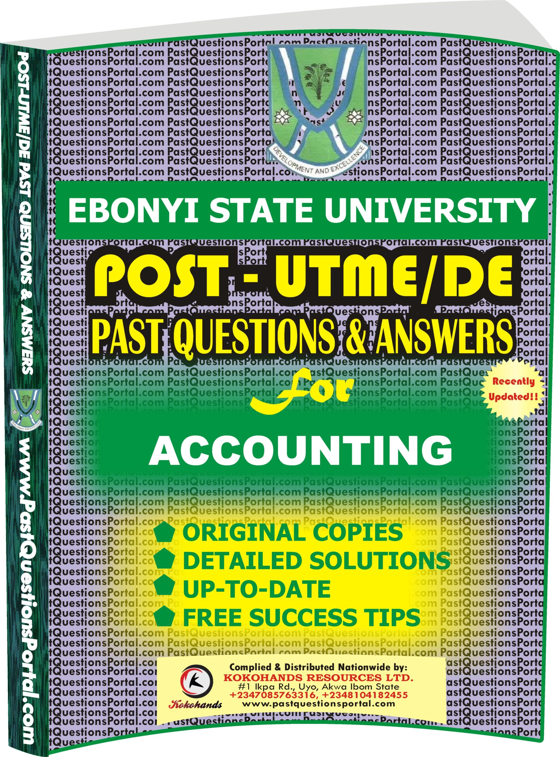EBSU Post UTME Past Questions for ACCOUNTING