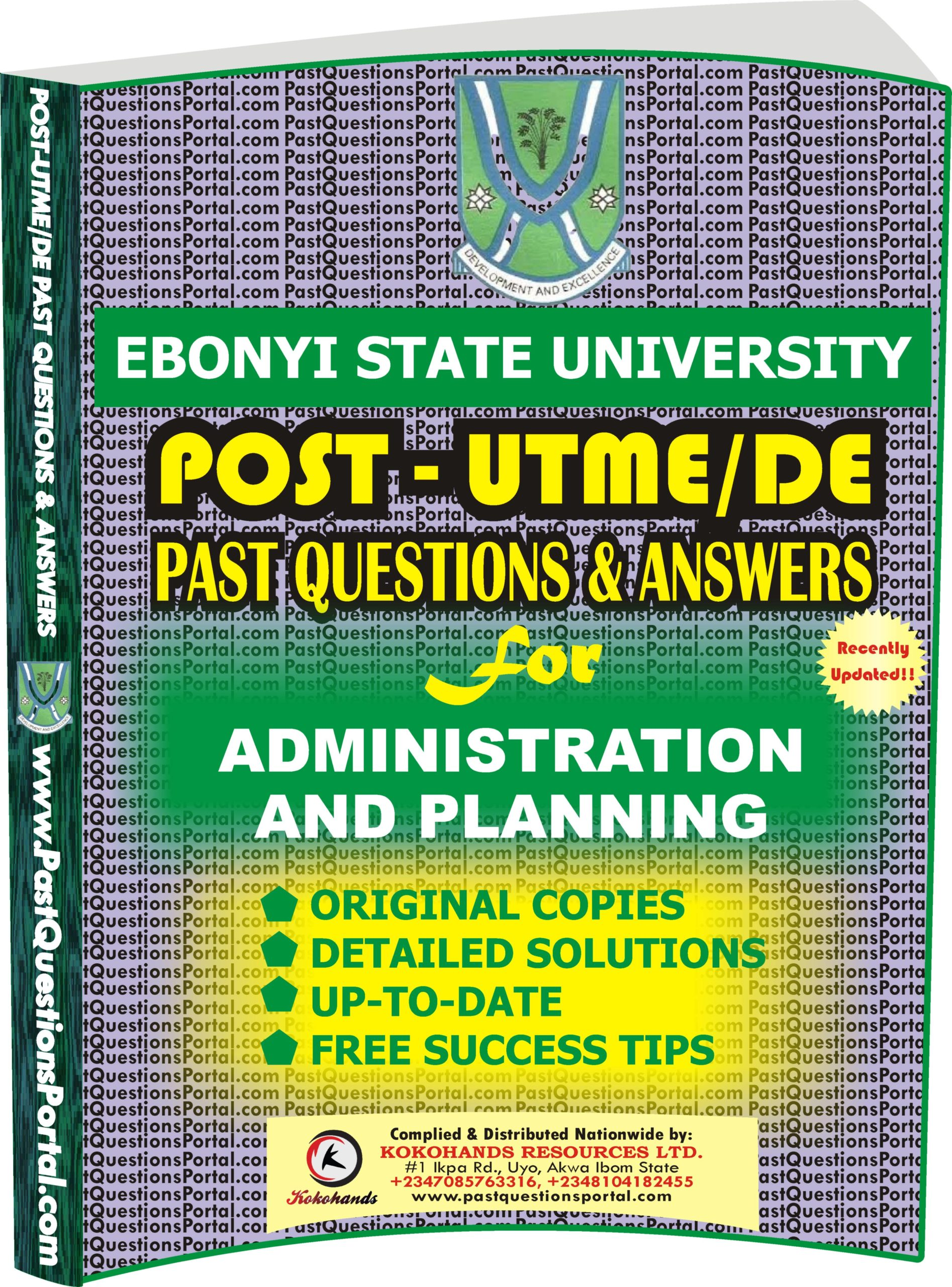 EBSU Post UTME Past Questions for Administration and Planning