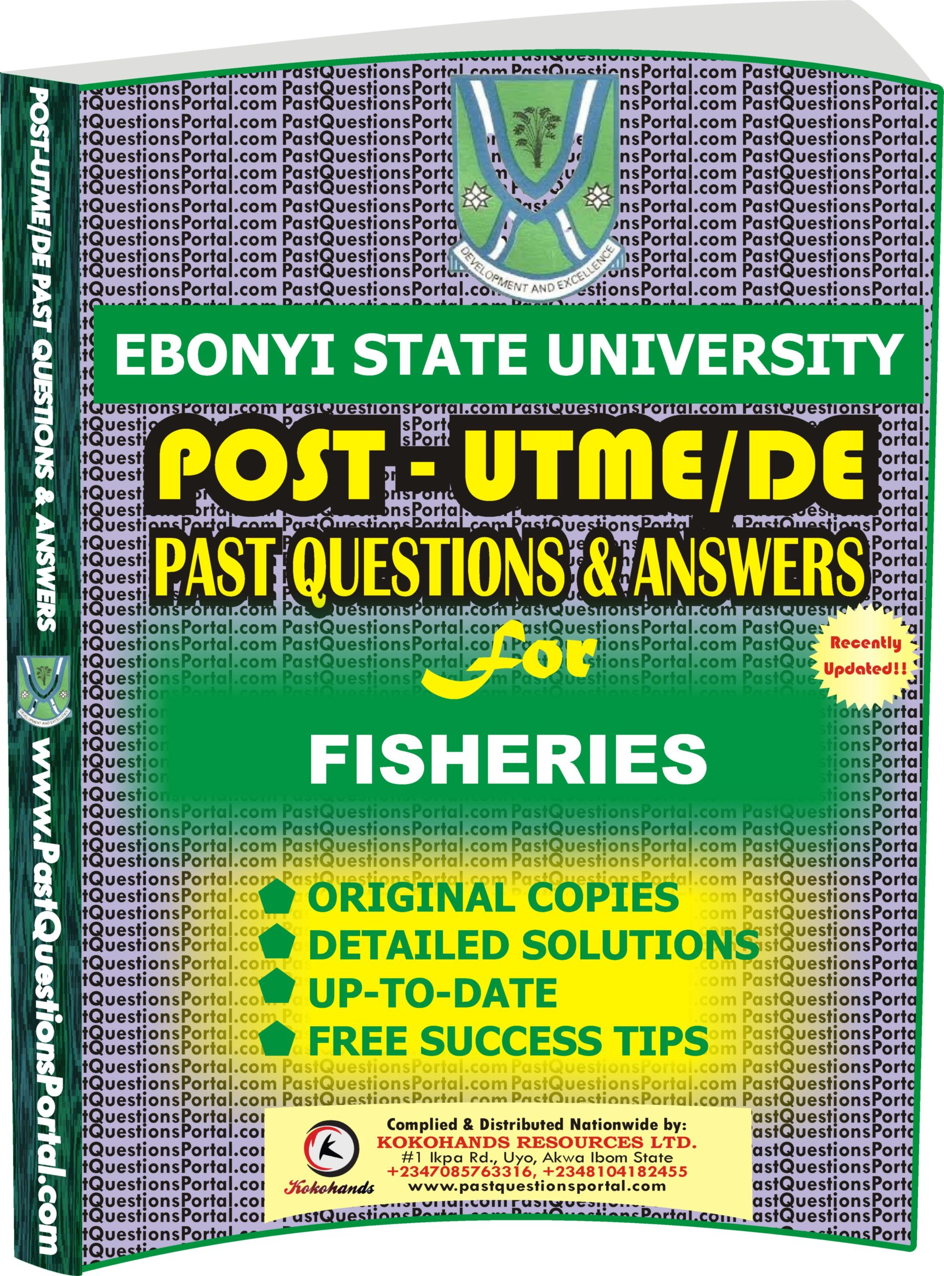 EBSU Post UTME Past Questions for FISHERIES