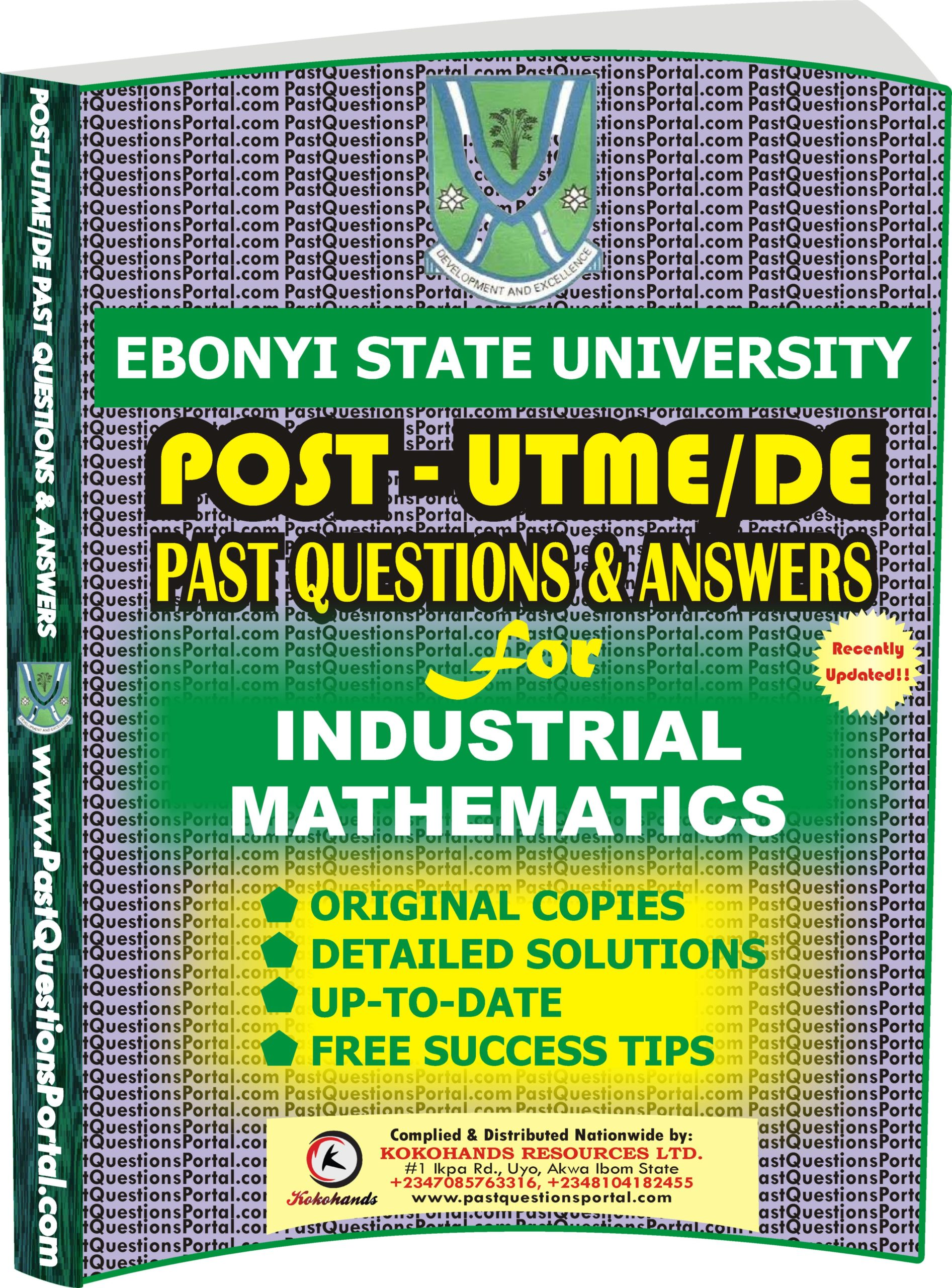 EBSU Post UTME Past Questions for INDUSTRIAL MATHEMATICS