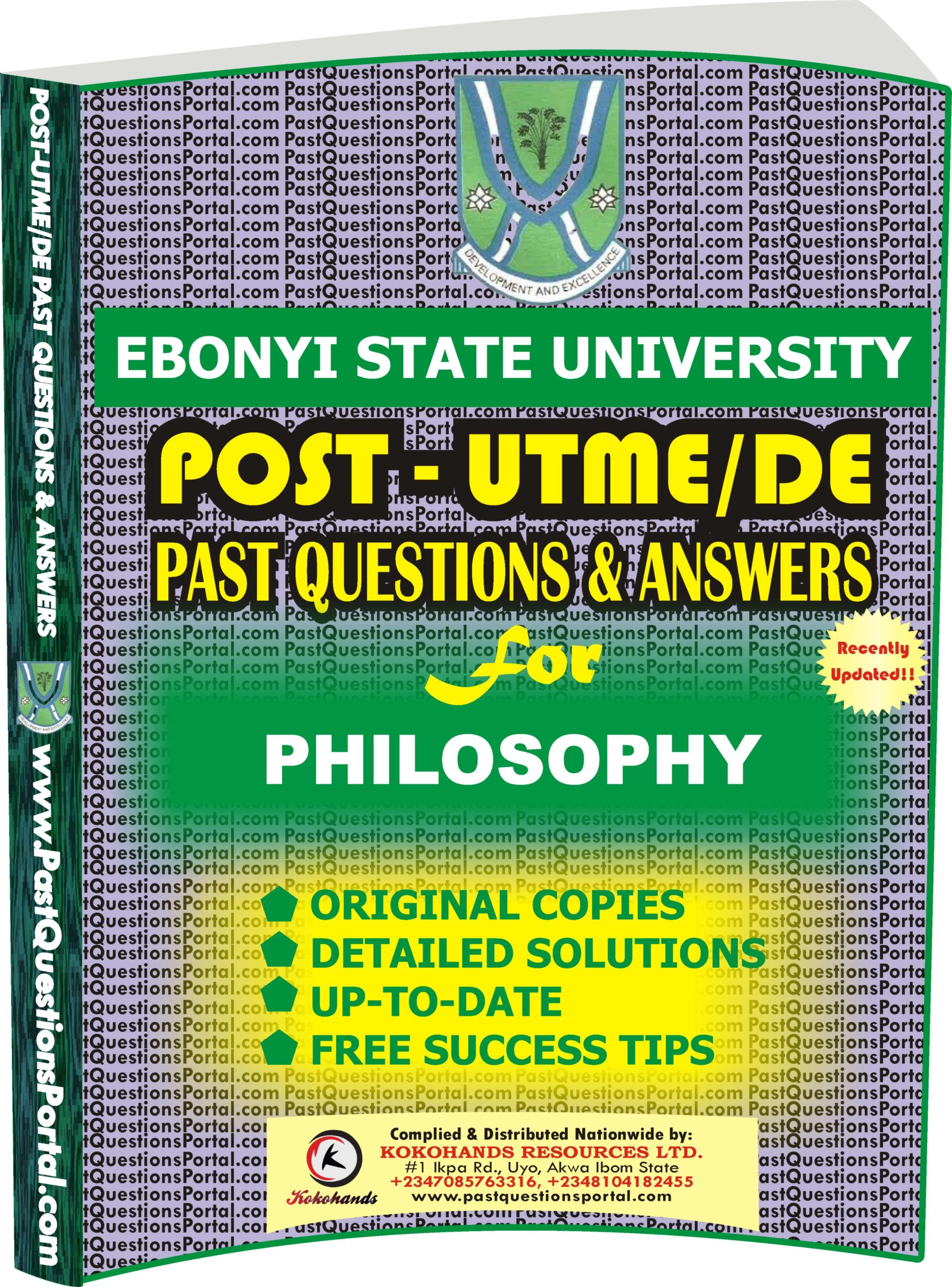 EBSU Post UTME Past Questions for PHILOSOPHY