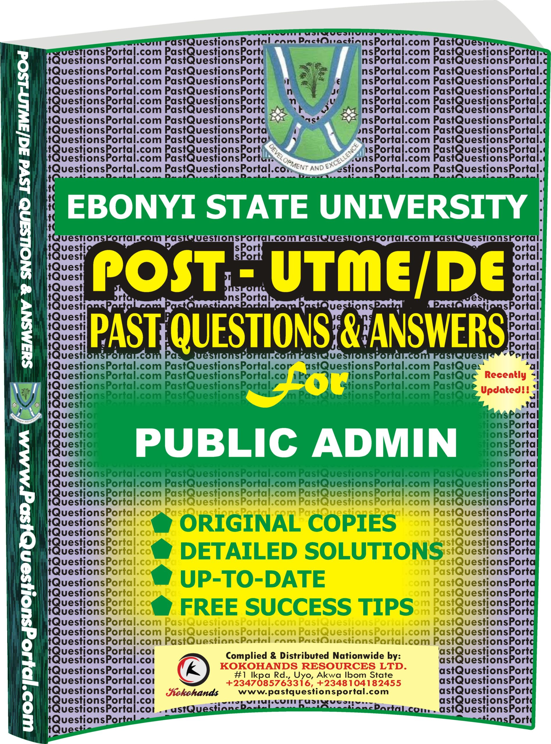 EBSU Post UTME Past Questions for PUBLIC ADMIN