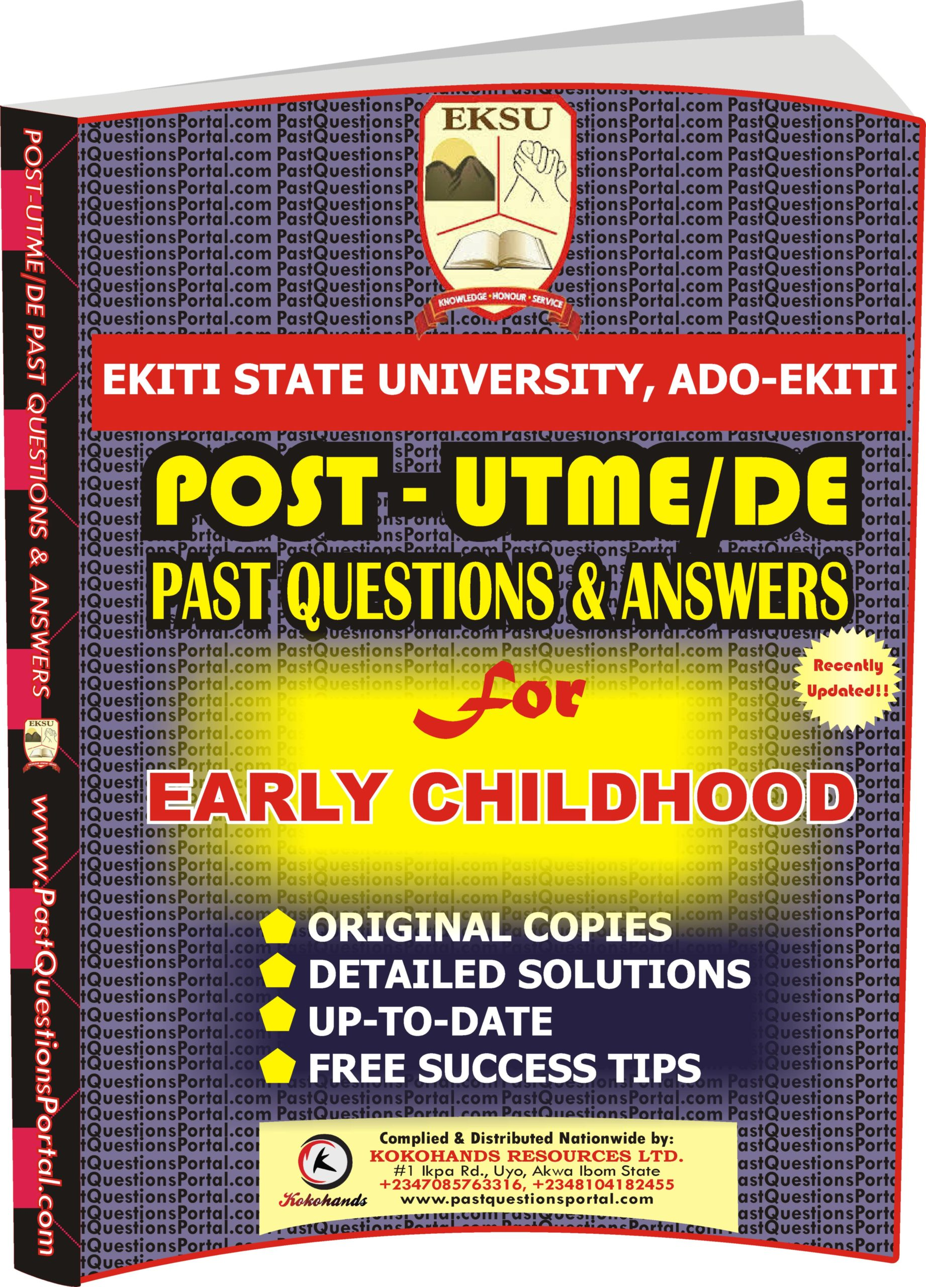 EKSU Post UTME Past Questions for EARLY CHILDHOOD