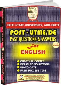 EKSU Post UTME Past Questions for ENGLISH