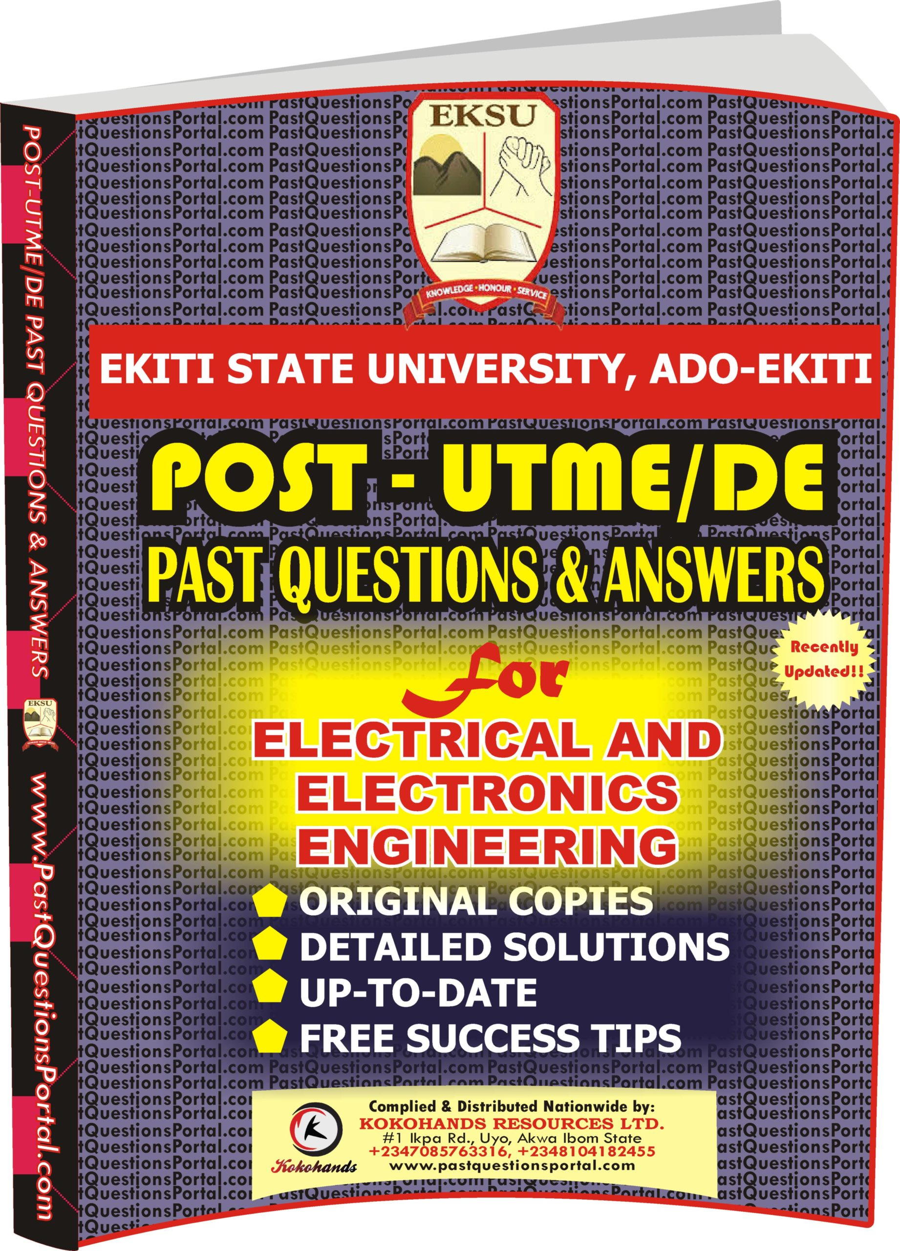 EKSU Post UTME Past Questions for Electrical and Electronics Engineering