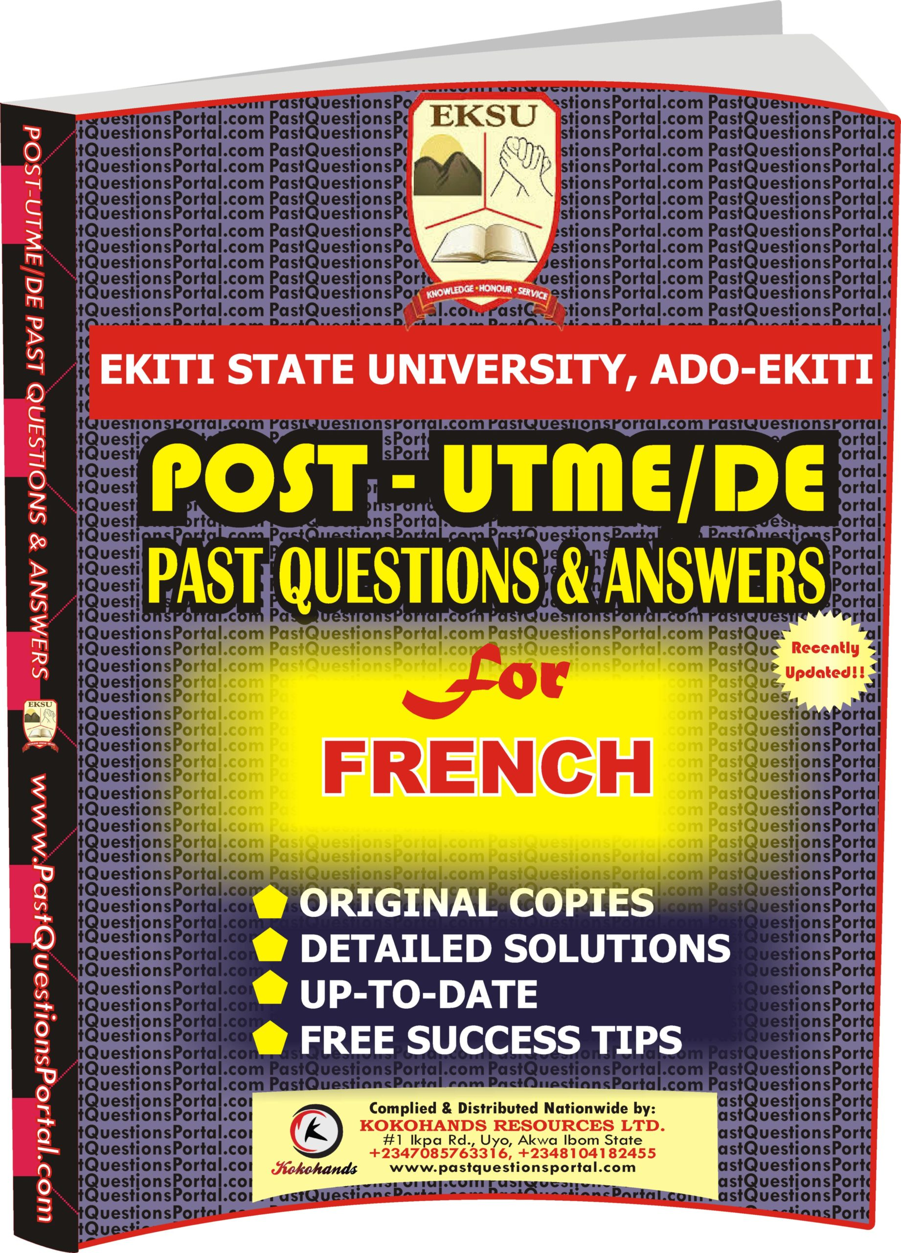 EKSU Post UTME Past Questions for FRENCH