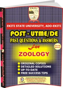 EKSU Post UTME Past Questions for ZOOLOGY