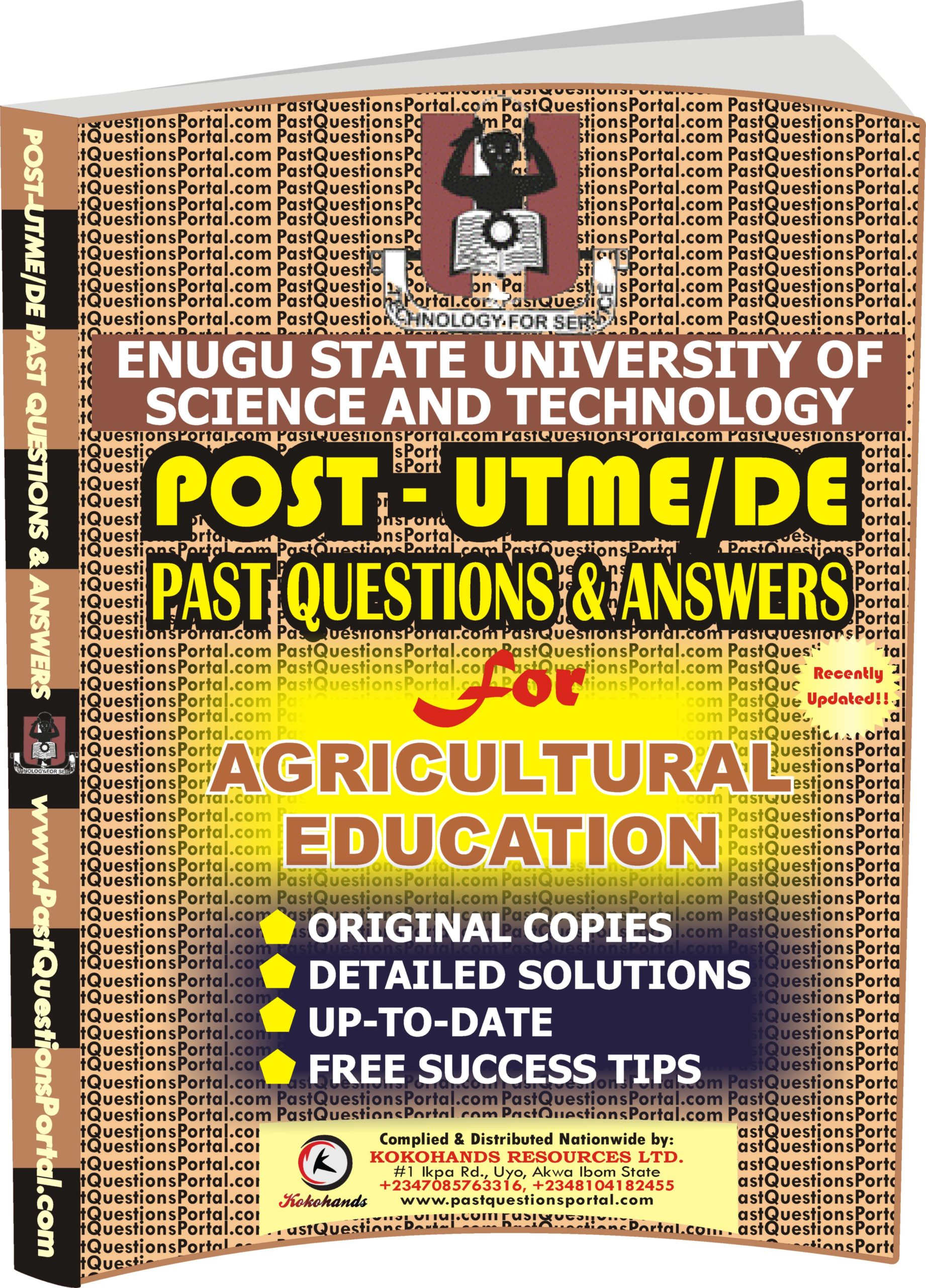 ESUT Post UTME Past Questions for Agricultural Education