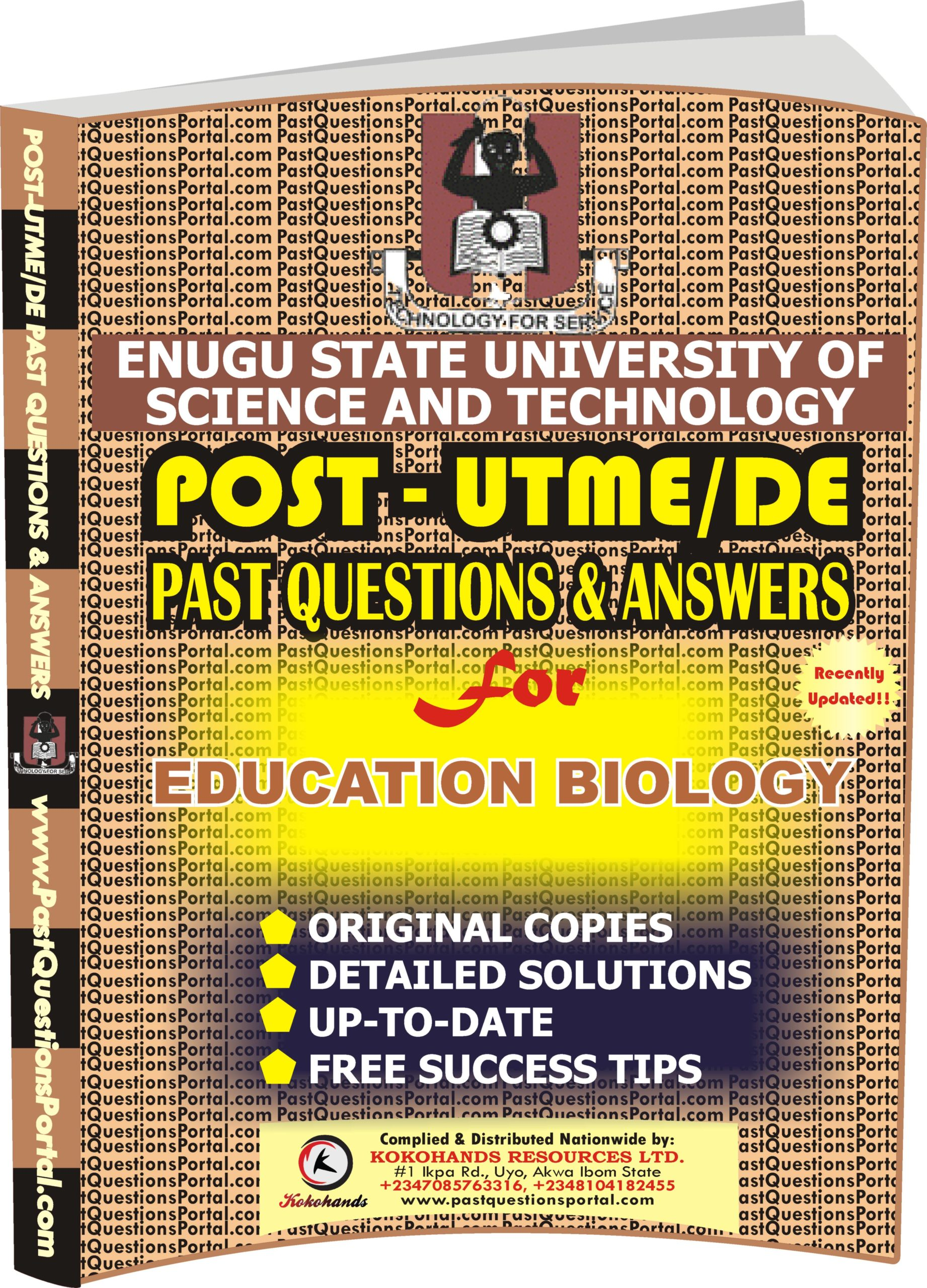 ESUT Post UTME Past Questions for EDUCATION BIOLOGY