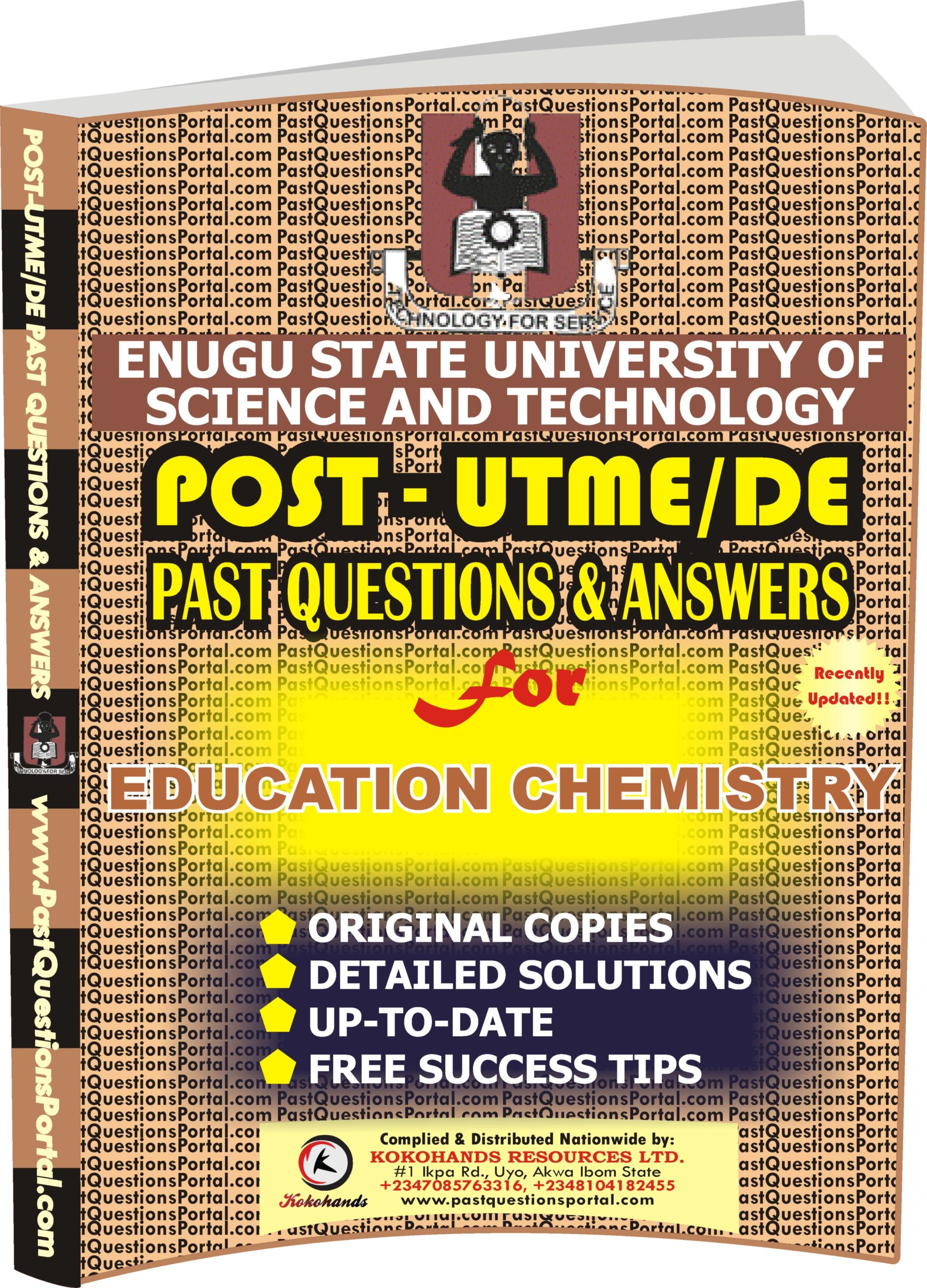 ESUT Post UTME Past Questions for EDUCATION CHEMISTRY
