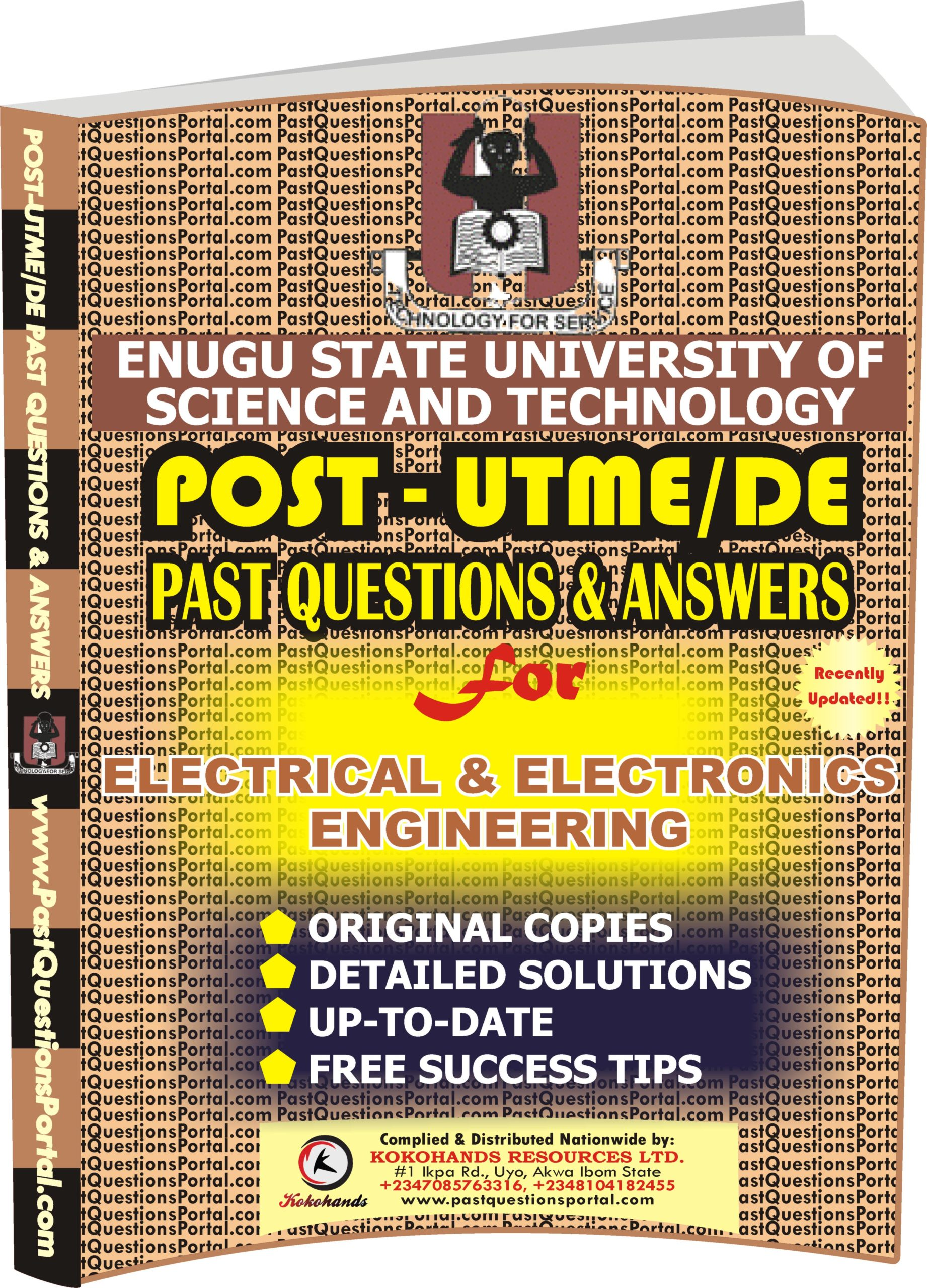 ESUT Post UTME Past Questions for Electrical and Electronic Engineering