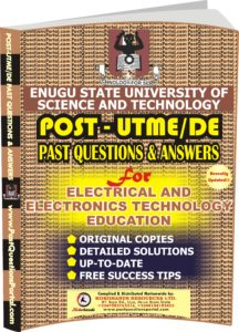 ESUT Post UTME Past Questions for Electrical and Electronics Technology EDUCATION