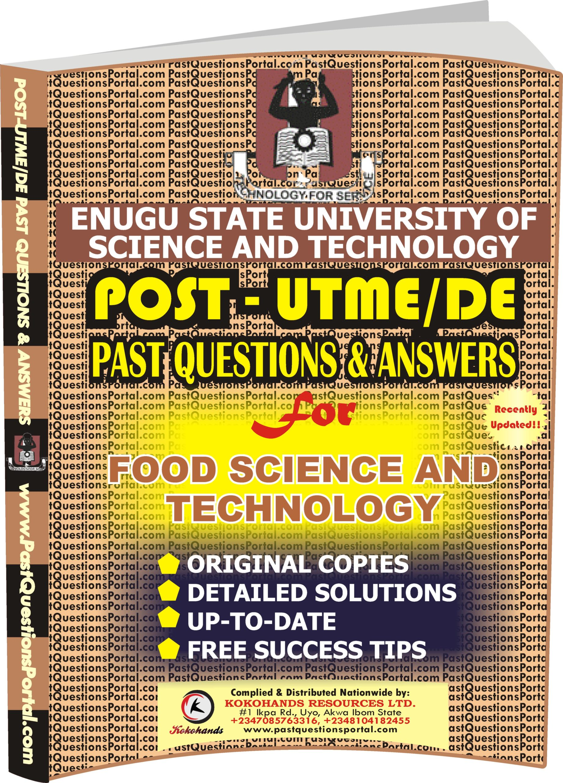 ESUT Post UTME Past Questions for Food Science and Technology