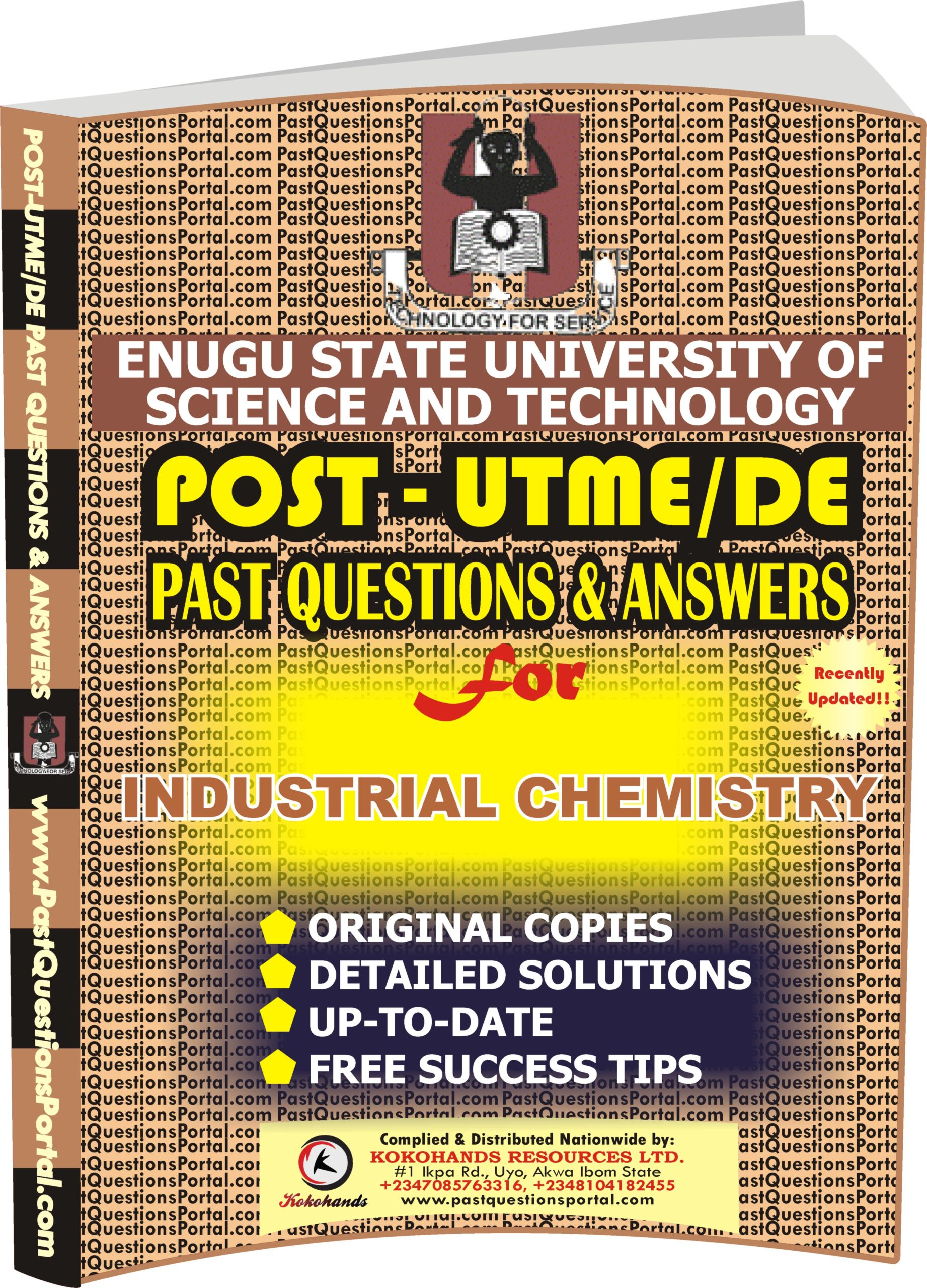 ESUT Post UTME Past Questions for INDUSTRIAL CHEMISTRY